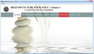 La page d'accueil de Logiciel de Digitopuncture Volume 1
