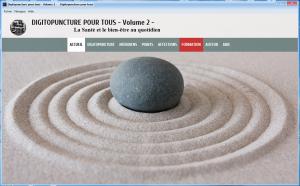 La page d'accueil de Logiciel de Digitopuncture Volume 2