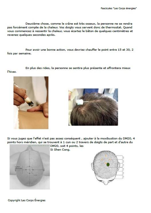 Page de démonstration du fascicule N° 2 lifting énergétique par la médecine chinoise