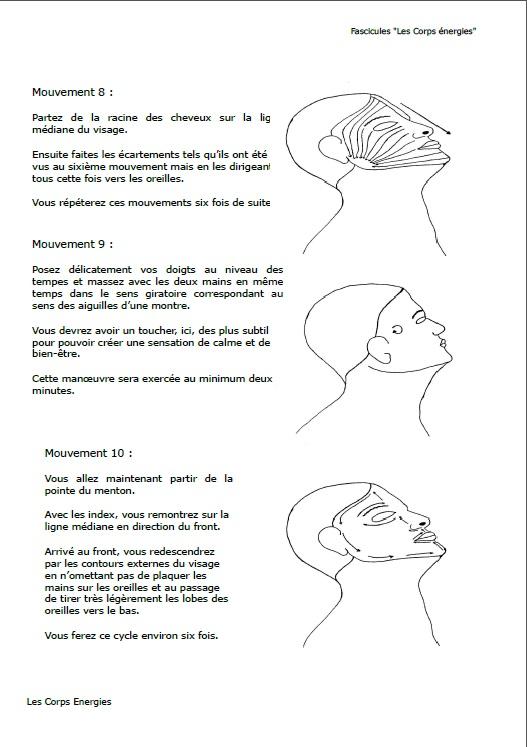 Page de démonstration du fascicule N° 7 lifting énergétique par la médecine chinoise